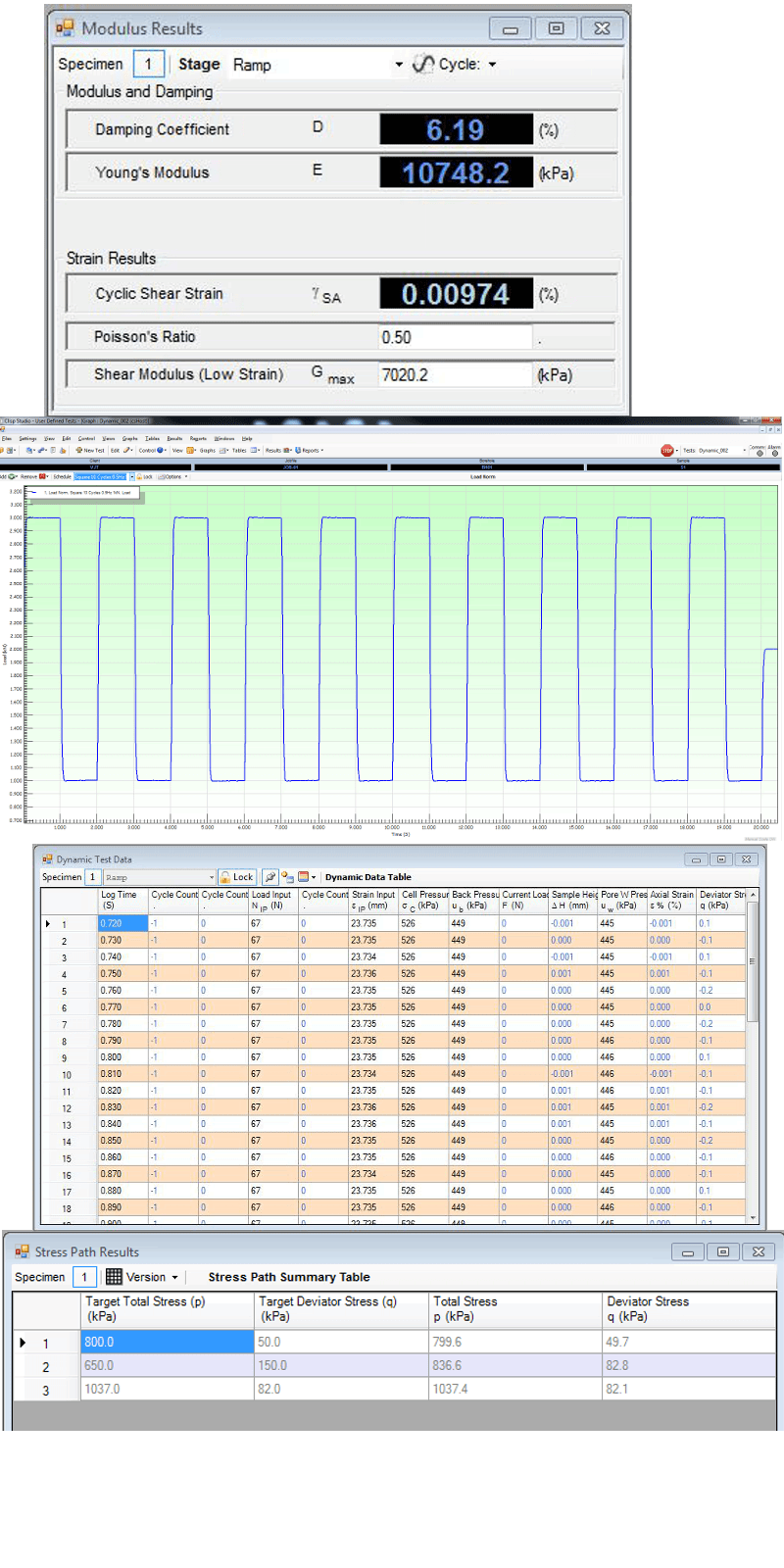 csDyna Dynamic Results